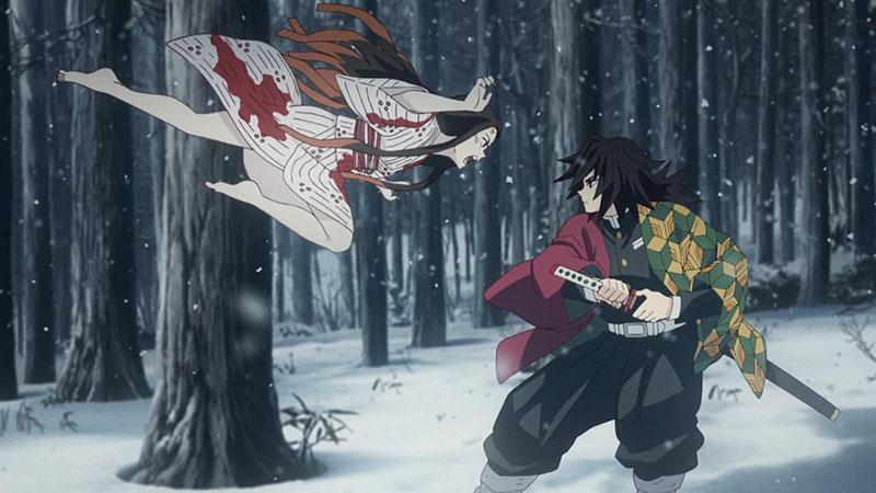 Клинок рассекающий демонов 2 сезон кадр из серии
